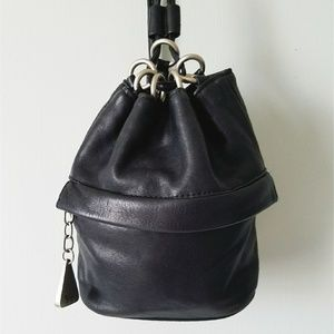 🍃 Sharif | VTG Mini Leather Bucket Backpack Bag